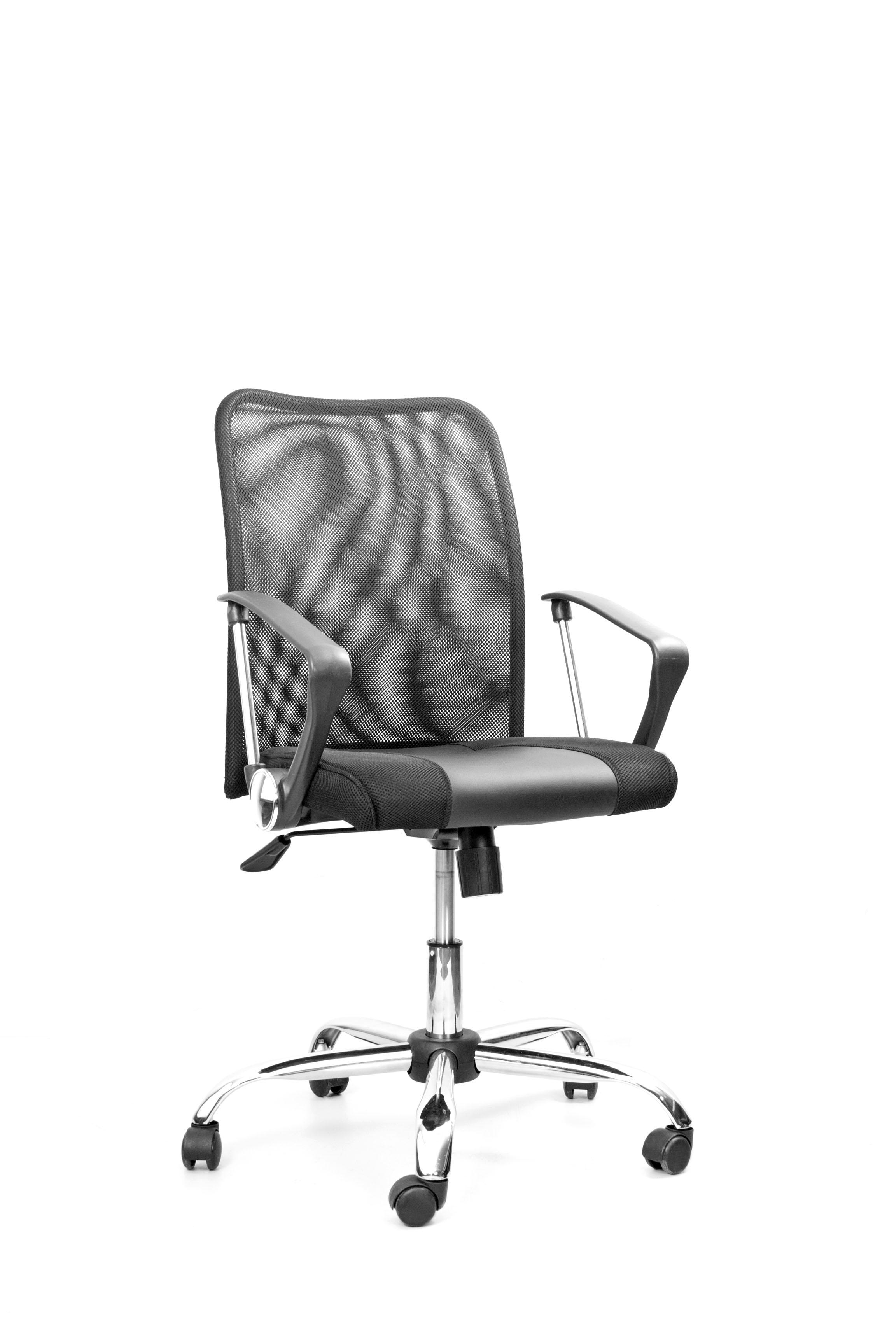 Кресло Recardo Smart 60 (Чёрный, сетка/кожа, высота 960-1050мм, спинка 520мм, Ш500*Г490, крест 700мм, макс. 120кг, газлифт/качание/откидывание) блок питания accord acc 850w 80g
