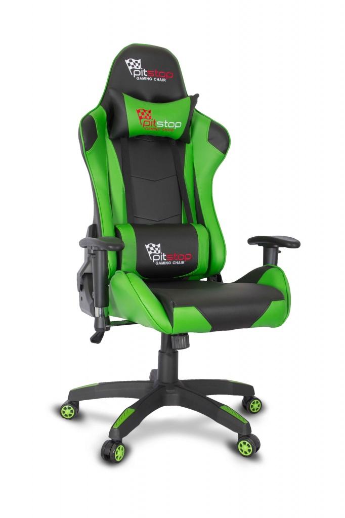 Кресло игровое COLLEGE CLG-801LXH (XH-8062) Черный/зеленый,пластик. крестовина,твердые подлокотники, высота спинки 84см, см 68*76*136 кресло руководителя college clg 616 lxh brown