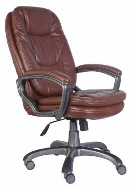 Кресло Buro CH-868AXSN/Brown пластик темно-серый искусственная кожа коричневый