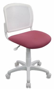 Кресло детское Бюрократ CH-W296NX/26-31 спинка сетка белый TW-15 сиденье розовый 26-31 кресло детское бюрократ ch w201nx 26 31 розовый 26 31
