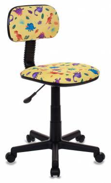 Кресло детское Бюрократ CH-201NX/DINO-Y желтый динозаврики Dino-Y кресло бюрократ ch 1201nx yellow желтый