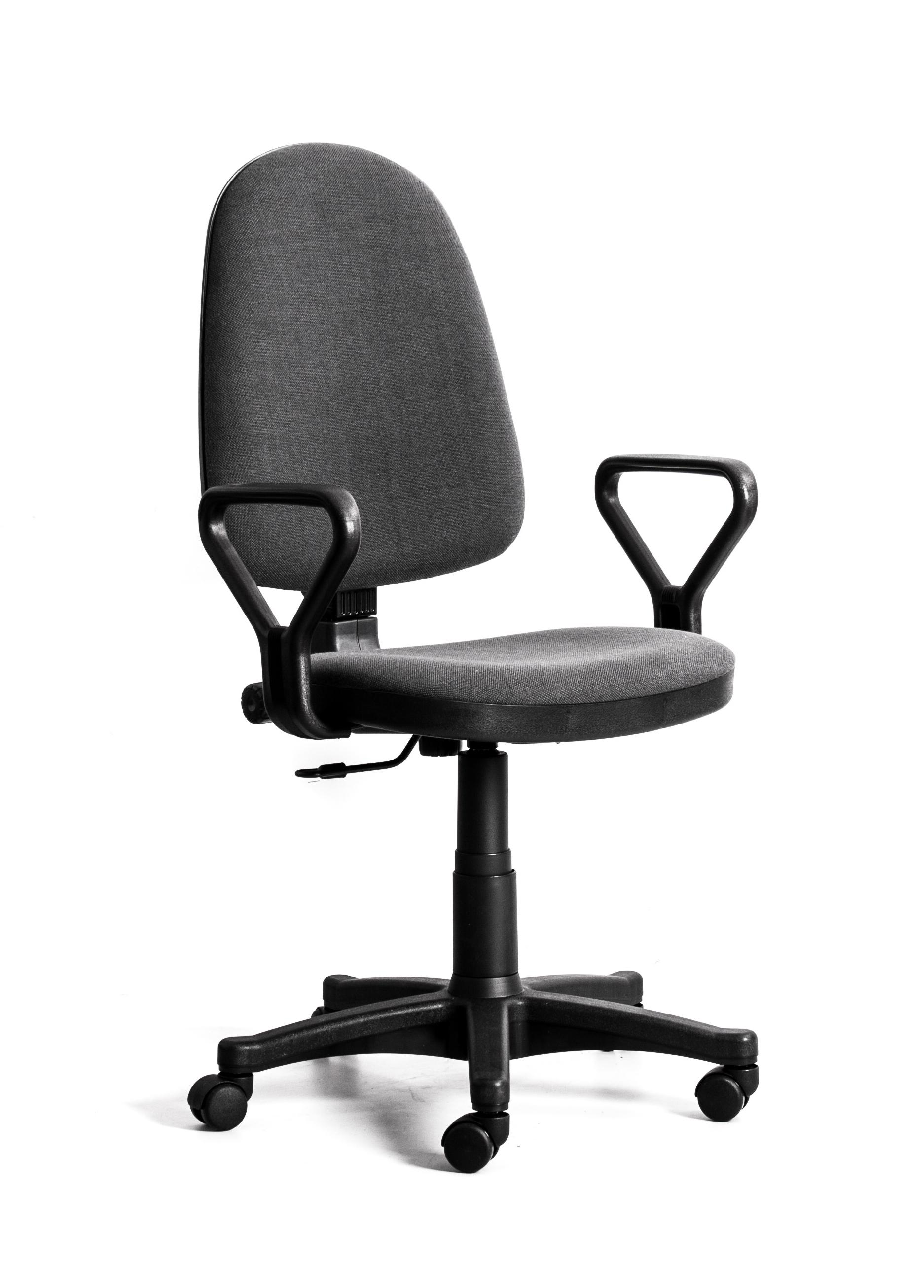 Кресло Recardo Assistant/Y подлокотник Y-образный (gtpPN/c38/Серый), ткань, 120кг, выс. спинки 565-620мм, ВШГ 995-1110*465*420мм, крест. пласт. 600мм