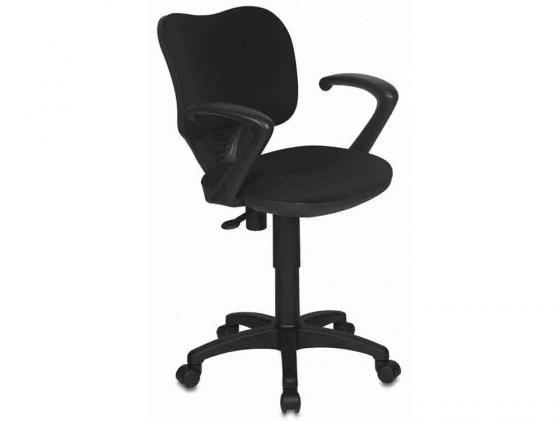 Кресло Buro CH-540AXSN-LOW/26-28 низкая спинка черный 26-28 бюрократ кресло бюрократ ch 540axsn low 26 21 низкая спинка синий 26 21