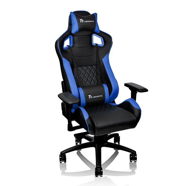 Кресло компьютерное игровое Thermaltake GT FIT F100 черно-синий GC-GTF-BLMFDL-01 цена