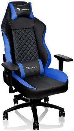 Кресло компьютерное игровое Thermaltake GT Comfort C500 черно-синий GC-GTC-BLLFDL-01 колонка tt esports battle bragon wireless speakers ht gvd dispbk 01
