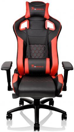 Кресло компьютерное игровое Thermaltake GTF 100 черно-красный GC-GTF-BRMFDL-01 цена