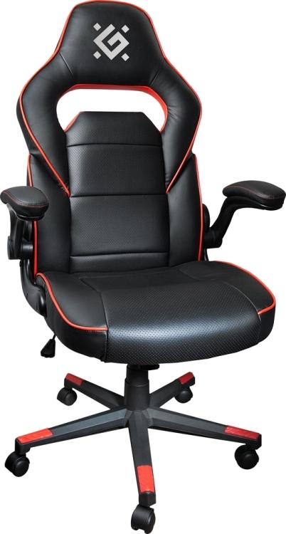 Игровое кресло Defender Corsair CL-361 Черный/Красный полиуретан,50мм, макс 100кг.