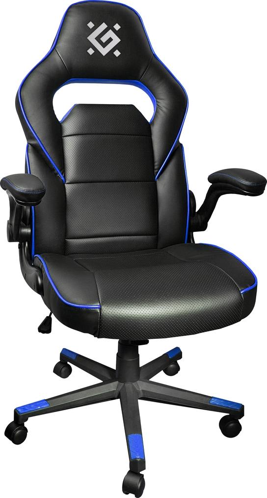 Игровое кресло Defender Corsair CL-361 Черный/Синий полиуретан,50мм, макс 100кг.