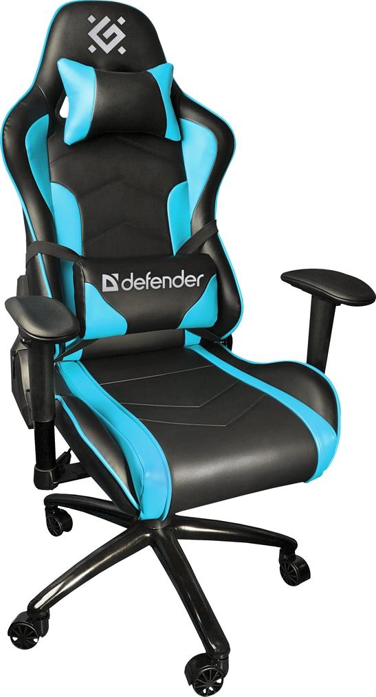 Игровое кресло Defender Interceptor CM-363 Голубой класс 4, 60 мм, макс 150 кг