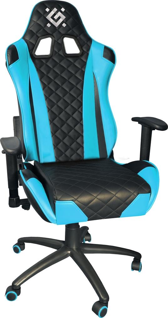цена Игровое кресло Defender Dominator CM-362 Голубой класс 4, 50мм, макс 150кг. в интернет-магазинах
