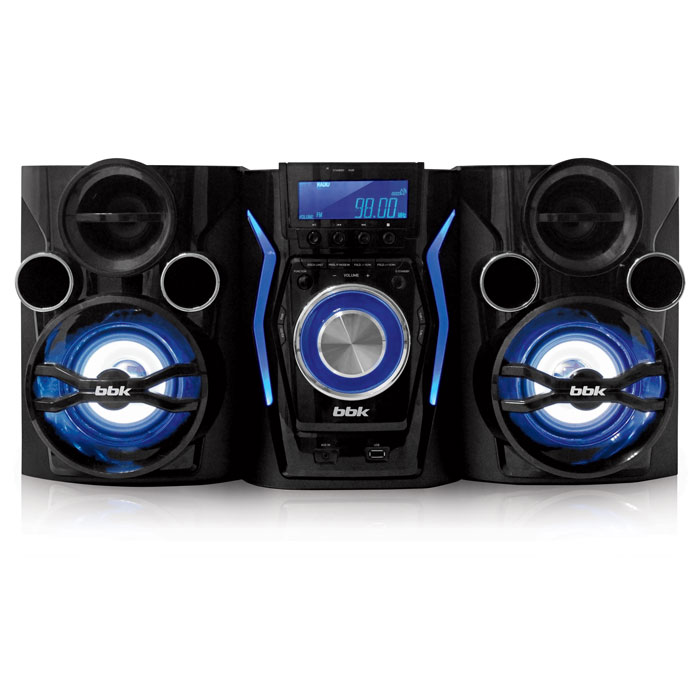 Музыкальный центр  BBK AMS110BT черный/темно-синий DVD