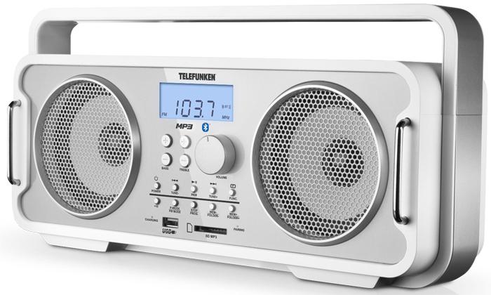 Аудиомагнитола TELEFUNKEN TF-SRP3401B (белый)