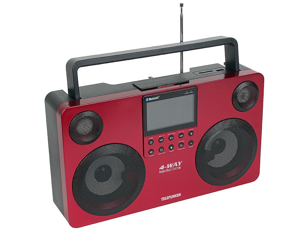 Аудиомагнитола TELEFUNKEN TF-SRP3470B (красный)