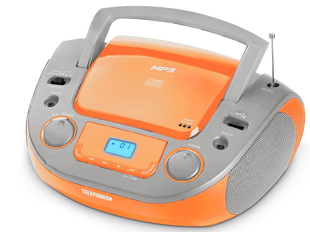 Аудиомагнитола TELEFUNKEN TF-CSRP3481 (оранжевый)