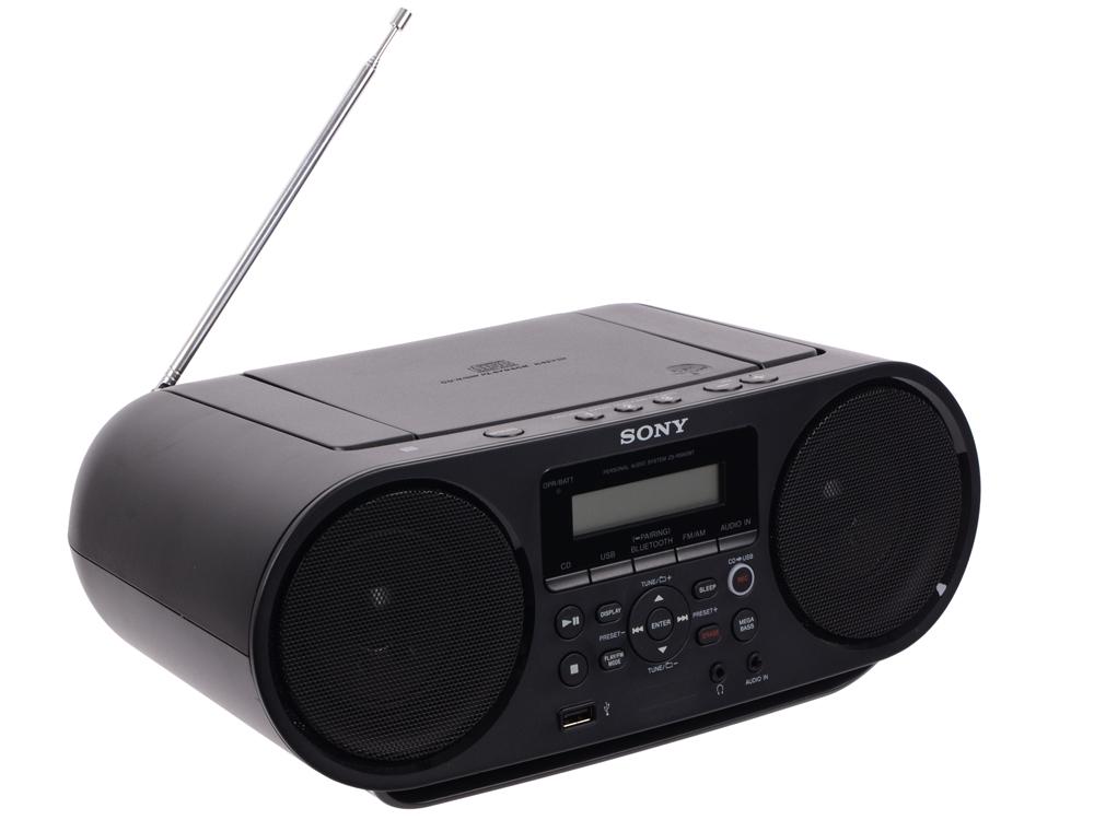 Аудиомагнитола Sony ZS-RS60BT CD-магнитола с возможностью беспроводного подключения, записи и воспроизведения через USB. Воспроизведение CD (CD-R/RW,