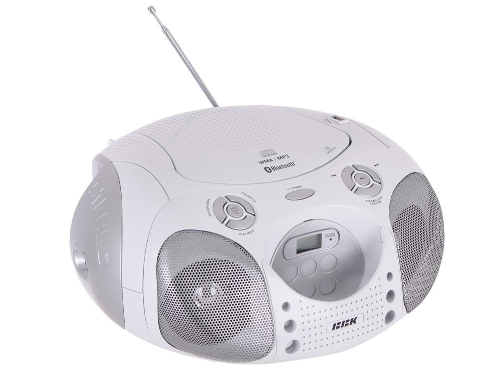 Аудиомагнитола BBK BX110BT CD MP3 белый Bluetooth