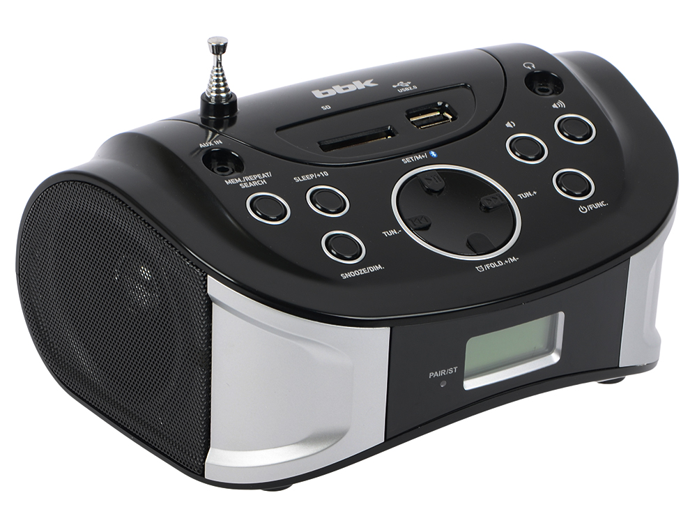 Магнитола BBK BS01 черно-серебристый аудиомагнитола bbk bs01 черный серебристый bs01 черный серебристый