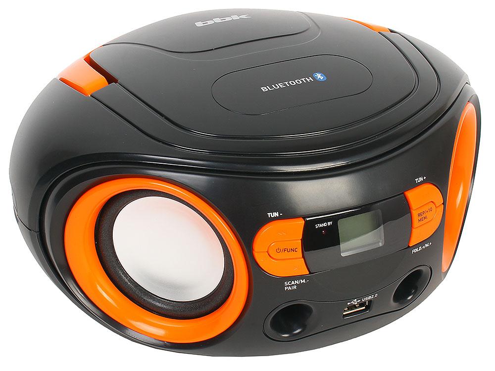 Аудиомагнитола BBK BS15BT черный/оранжевый bbk dvp773hd диск 500 песен черный