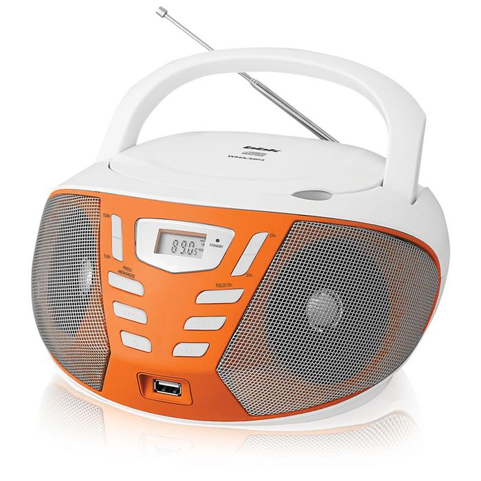 Аудиомагнитола BBK BX193U белый/оранжевый