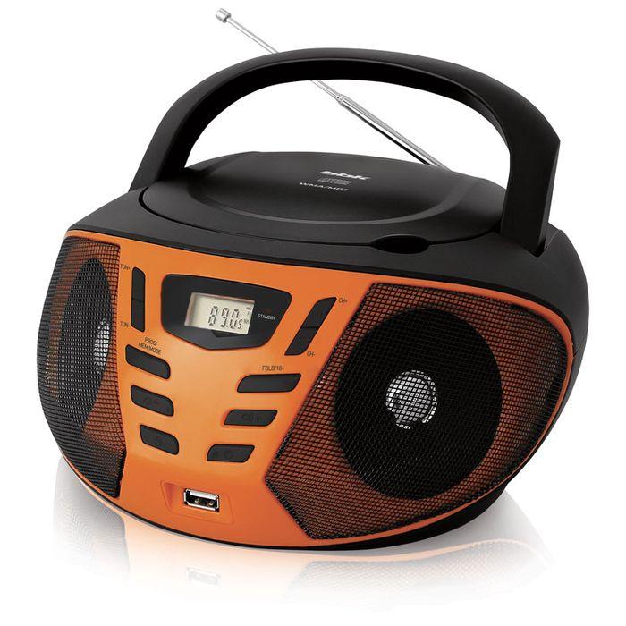 Аудиомагнитола BBK BX193U черный/оранжевый