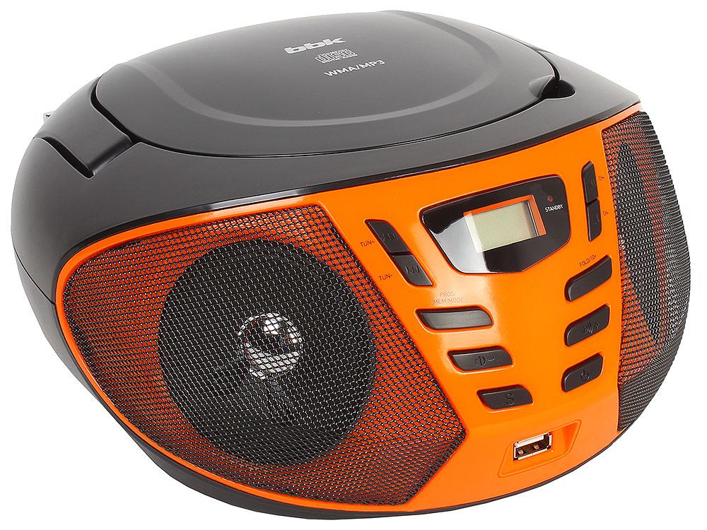 Аудиомагнитола BBK BX193U черный/оранжевый магнитола bbk bx193u white orange