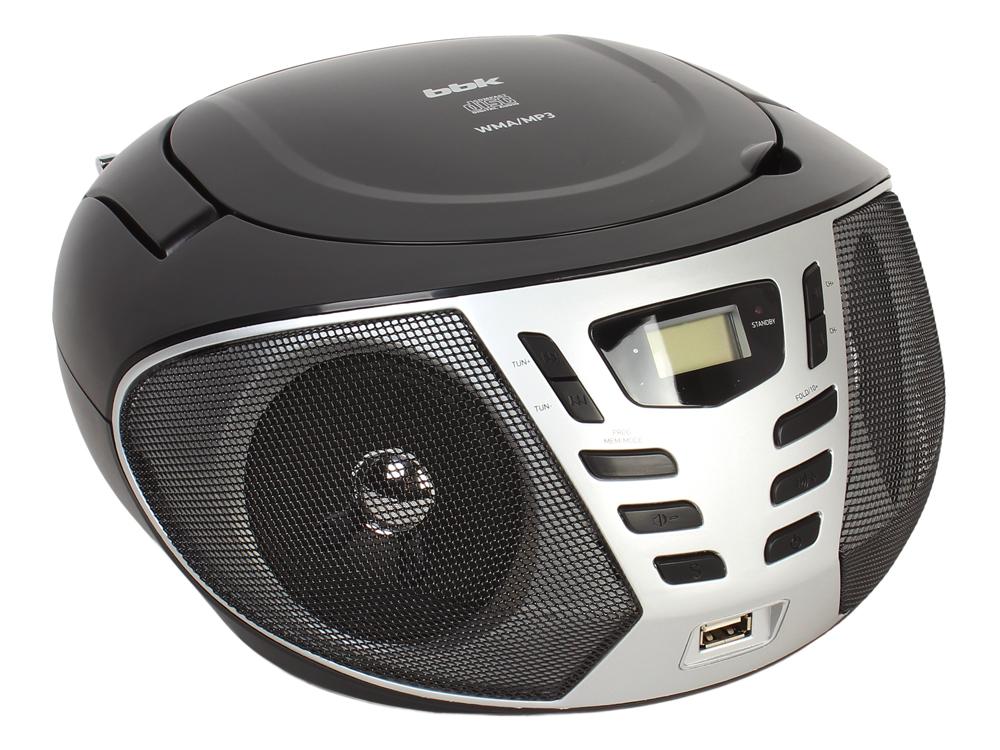 Аудиомагнитола BBK BX193U черный/серый