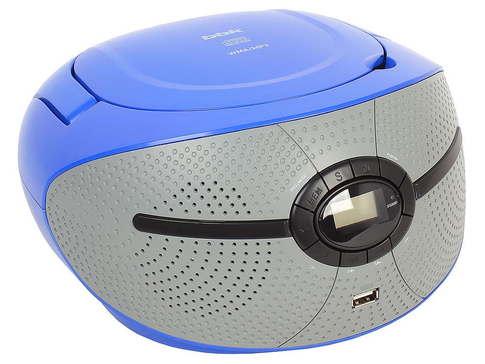 Аудиомагнитола BBK BX195U голубой/серый