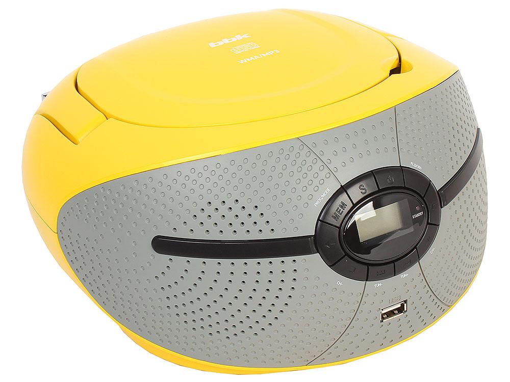 Аудиомагнитола BBK BX195U желтый bbk bx150u черный желтый