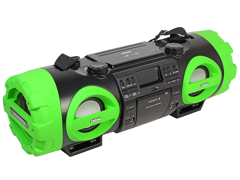 Аудиомагнитола BBK BX999BT черный/зеленый, 80 Вт, Bluetooth, Цифровой тюнер, Пульт ДУ