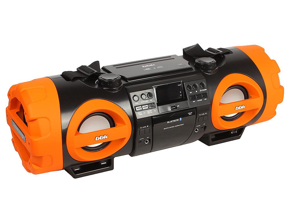 Аудиомагнитола BBK BX999BT черный/оранжевый цена и фото