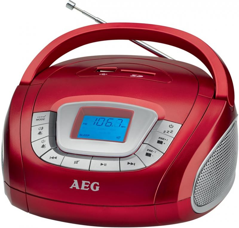 Магнитола AEG SR 4373 rot вентилятор напольный aeg vl 5569 s lb 80 вт