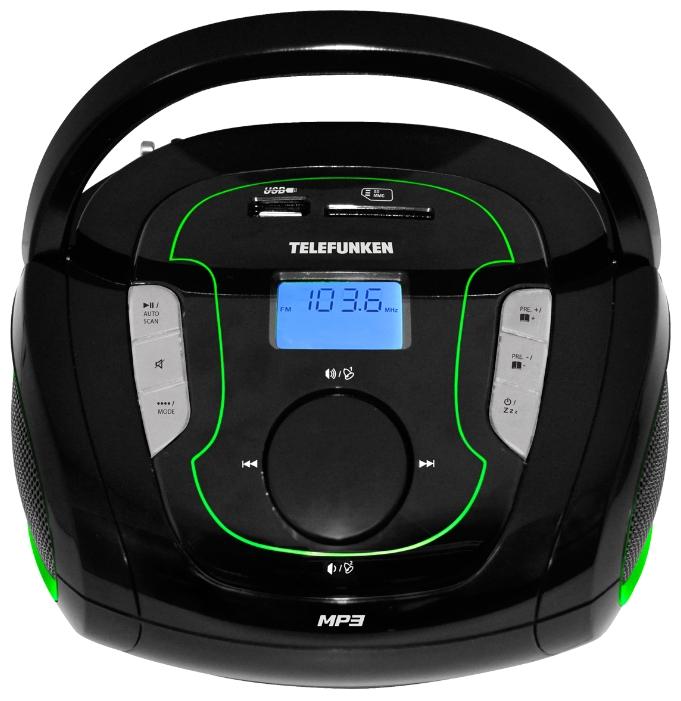 Магнитола Telefunken TF-SRP3471B черно-зеленый