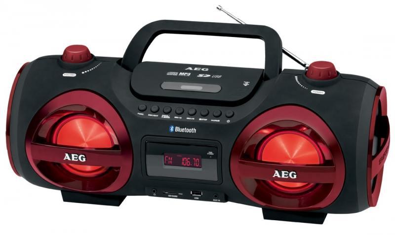 Магнитола AEG SR 4359 BT red aeg kh 4223 bt stereo red bluetooth наушники