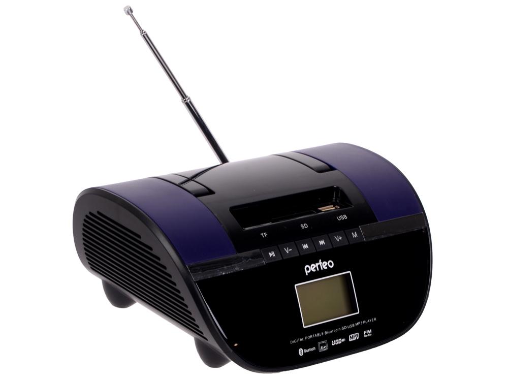Магнитола Perfeo Stilius i350PRO-PR черно-фиолетовый