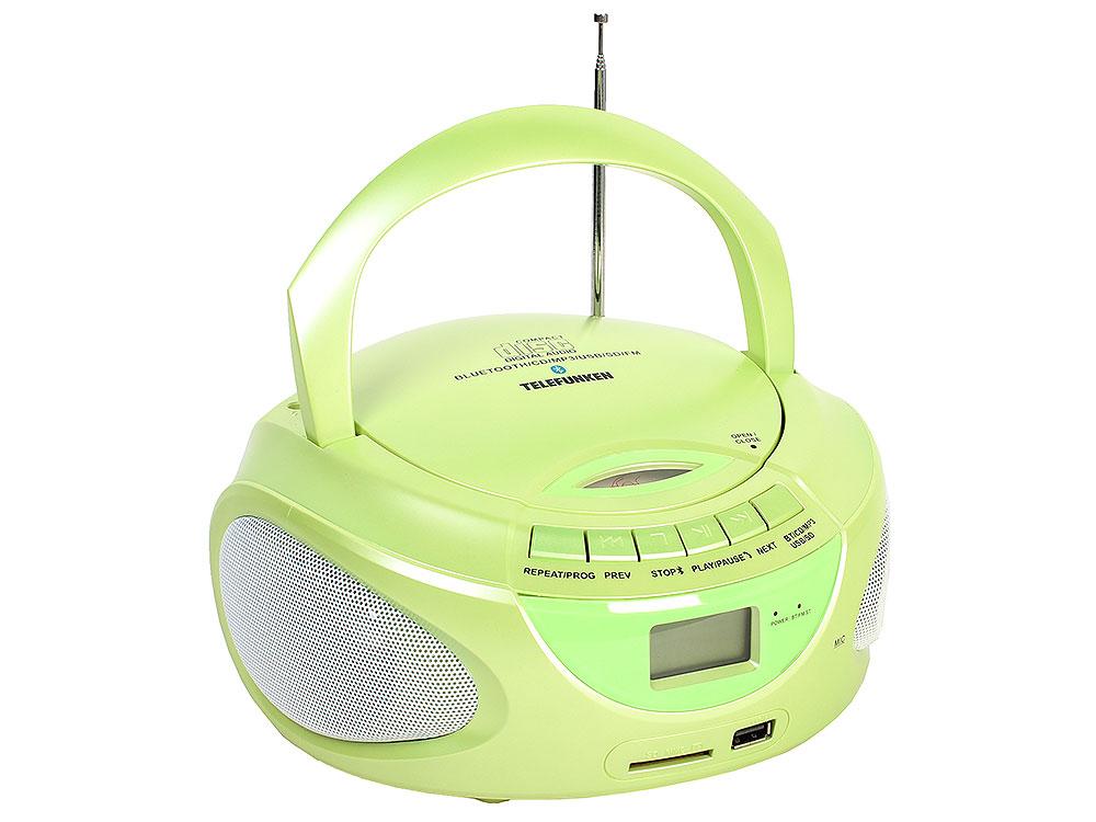 Аудиомагнитола TELEFUNKEN TF-CSRP3490B мятный
