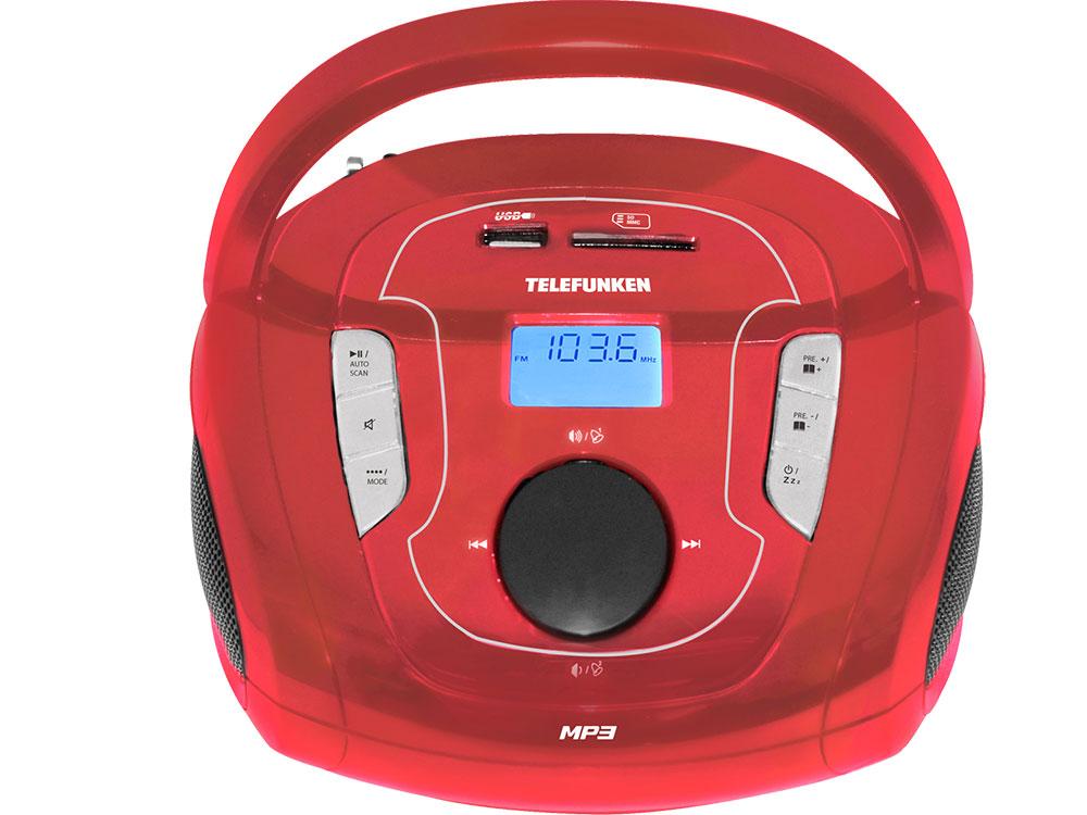 Аудиомагнитола TELEFUNKEN TF-SRP3471B Красный