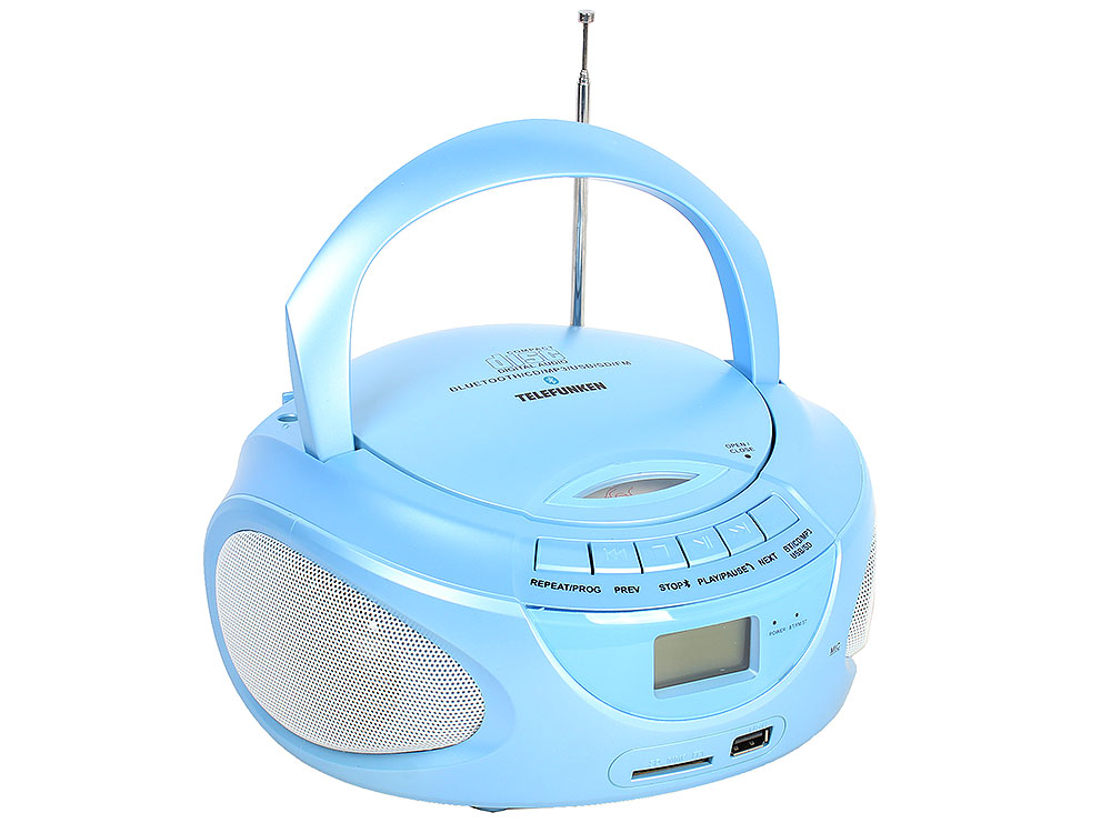 Аудиомагнитола TELEFUNKEN TF-CSRP3490B синий
