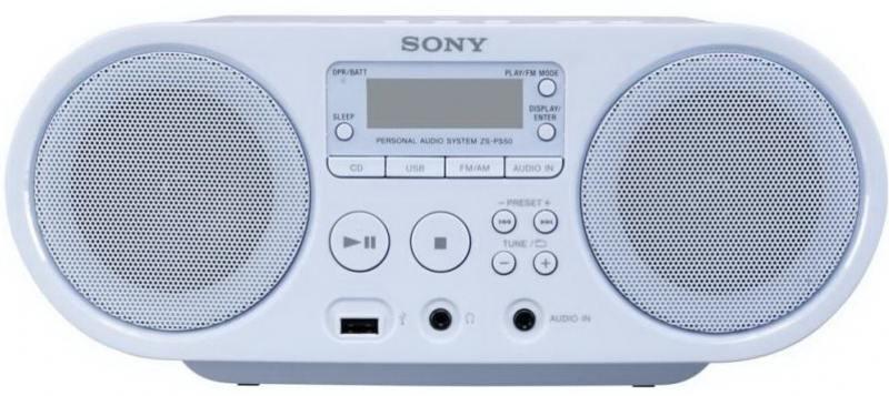 цена на Магнитола Sony ZS-PS50L синий