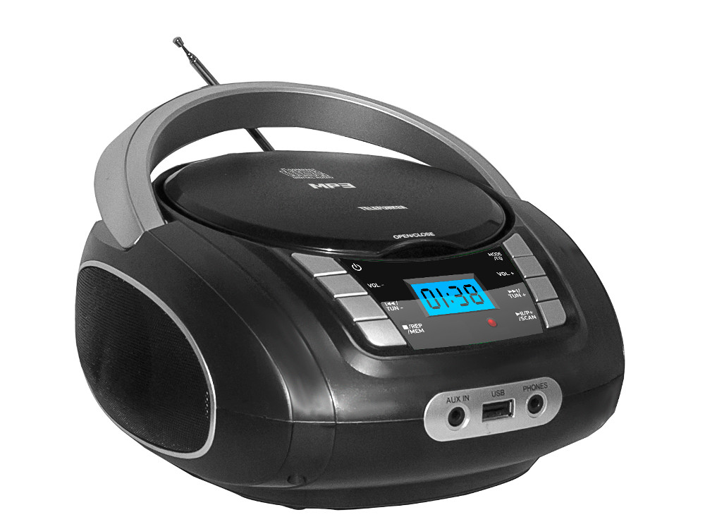Аудиомагнитола TELEFUNKEN TF-CSRP3448(желтый)