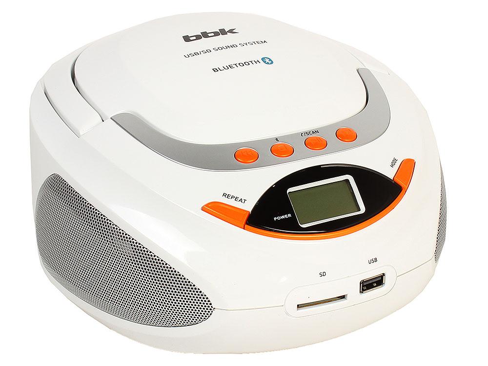 Магнитола BBK BS09BT белый/оранжевый магнитола rolsen rbm411or оранжевый
