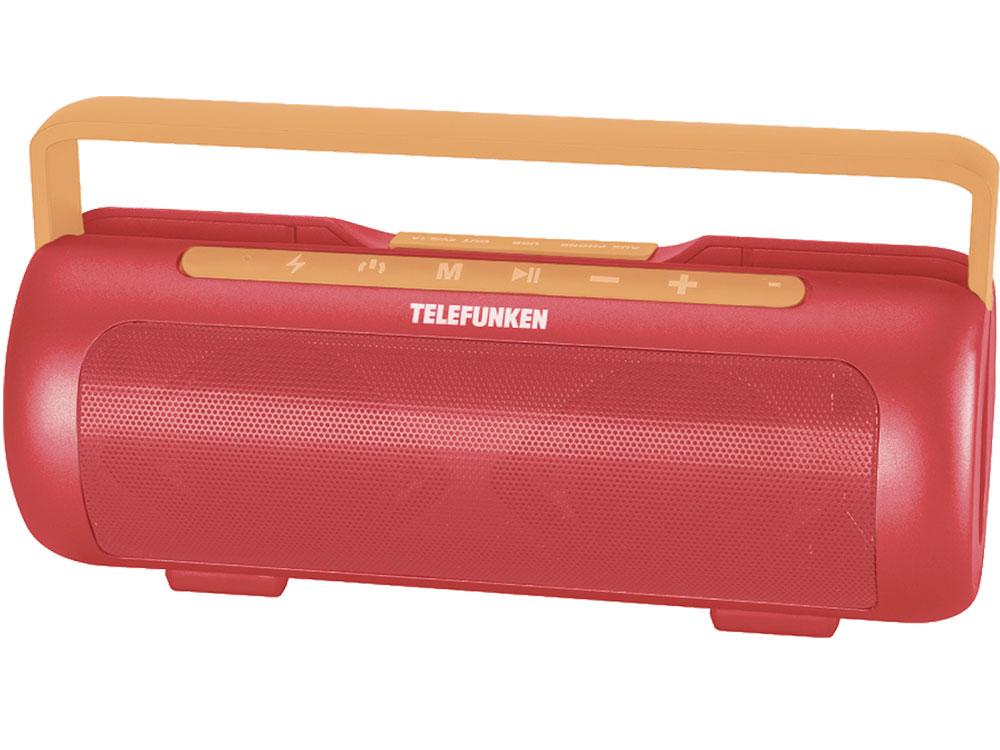 Магнитола Telefunken TF-PS1231B красный/оранжевый магнитола rolsen rbm411or оранжевый