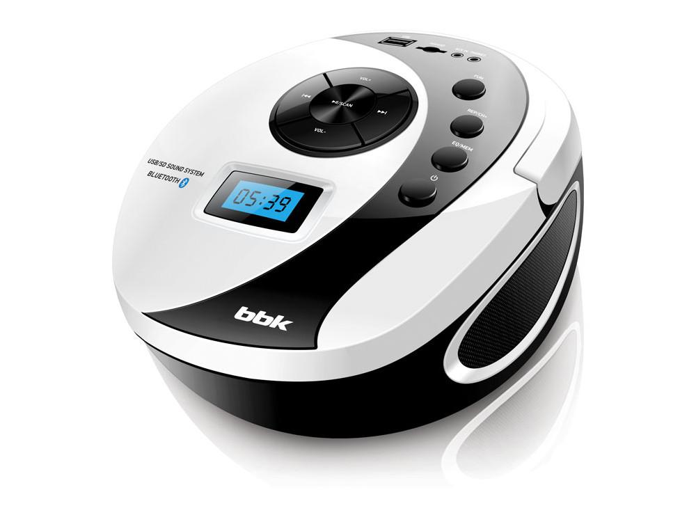Аудиомагнитола BBK BS10BT белый/черный