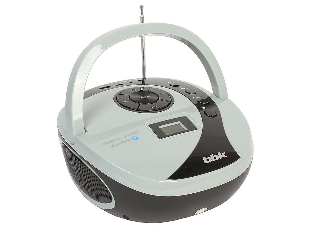 Аудиомагнитола BBK BS10BT черный/серый аудиомагнитола bbk bx193u черный и серый