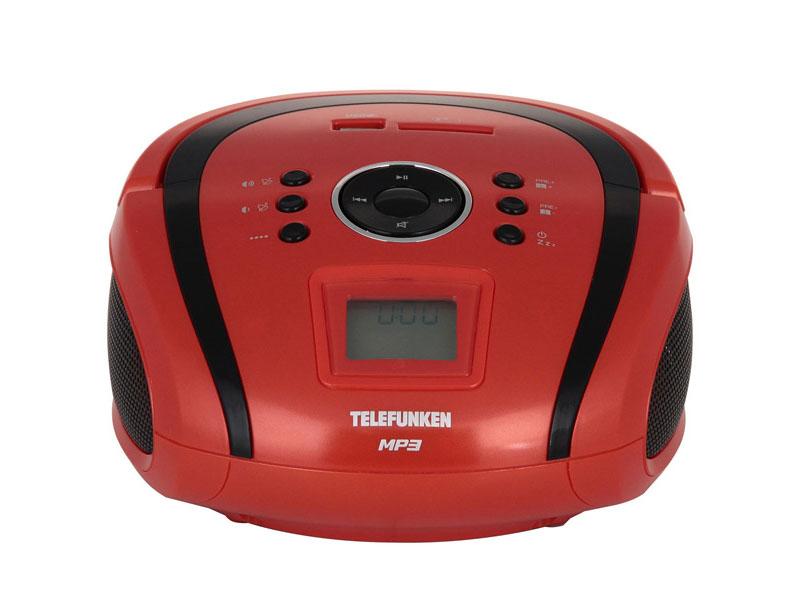 Магнитола Telefunken TF-SRP3449(красный с черным)