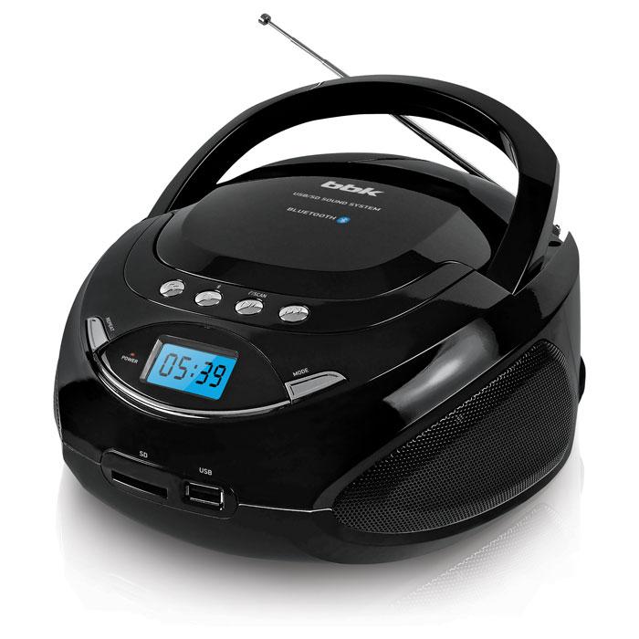 Аудиомагнитола BBK BS09BT черный/металлик