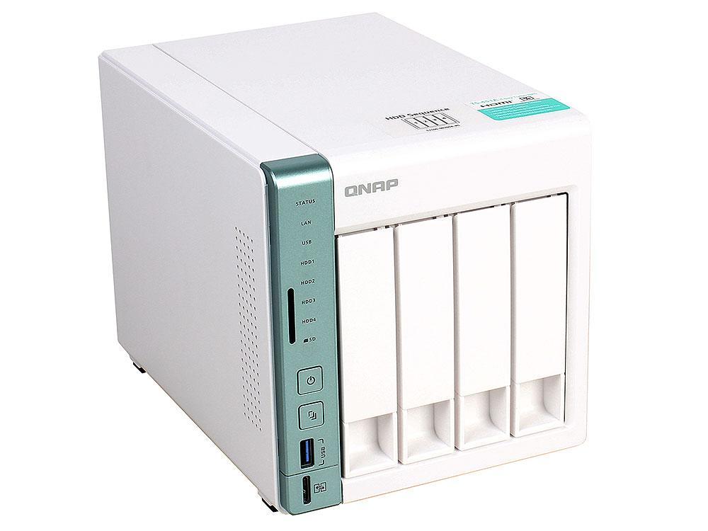 Сетевой накопитель QNAP TS-451A-2G Сетевой RAID-накопитель, 4 отсека для HDD, с функцией USB Quick Access. Двухъядерный Intel Celeron N3060 1,6 ГГц (д рэковое сетевое хранилище rack nas qnap ts 451a 2g ts 451a 2g