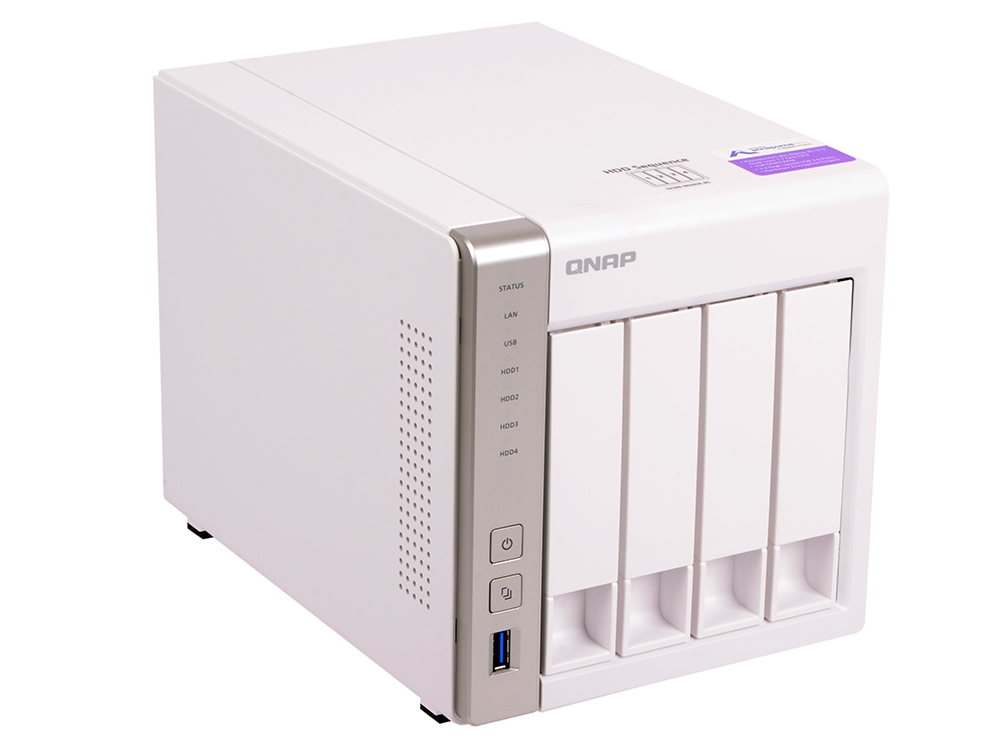 Сетевой накопитель QNAP TS-431P Сетевой RAID-накопитель, 4 отсека для HDD. Двухъядерный Freescale ARM Cortex-A9 1,2 ГГц