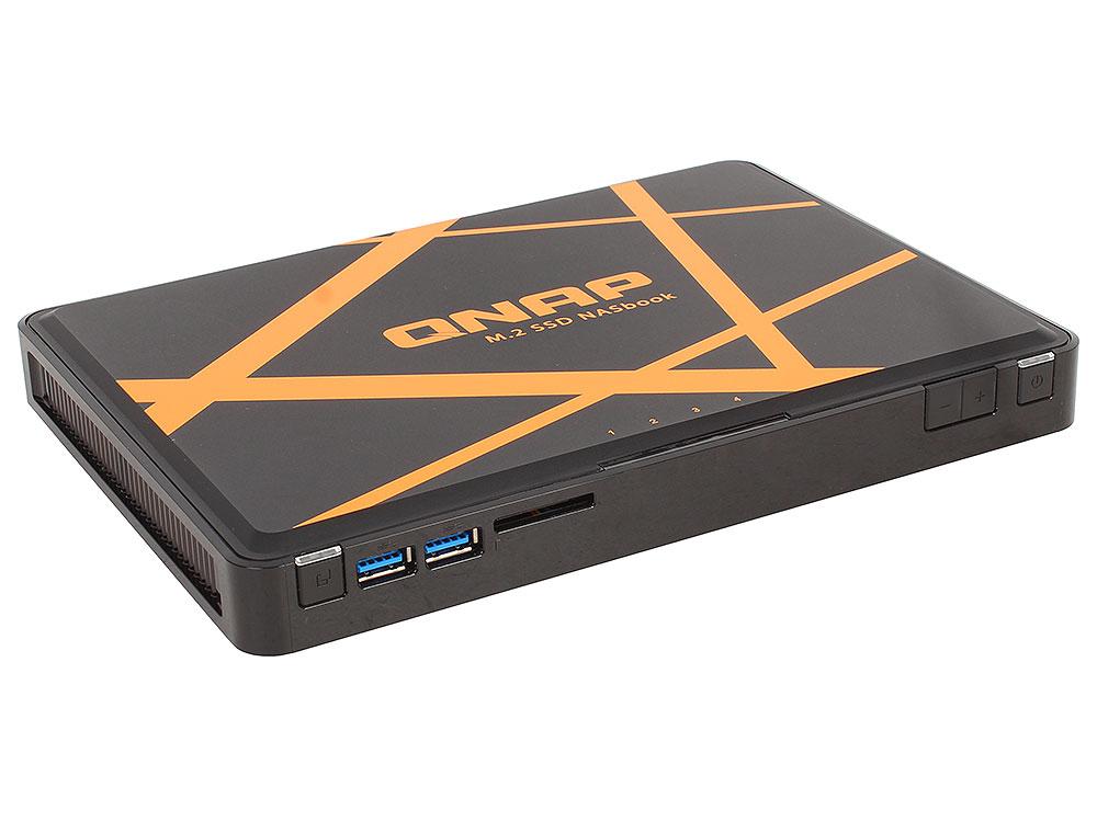 Сетевой накопитель TBS-453A-8G Сетевой RAID-накопитель, 4 отсека для M.2 2280/2260/2242 SSD, HDMI-порт. Четырехъядерный Intel Celeron N3150 1,6 ГГц, 8