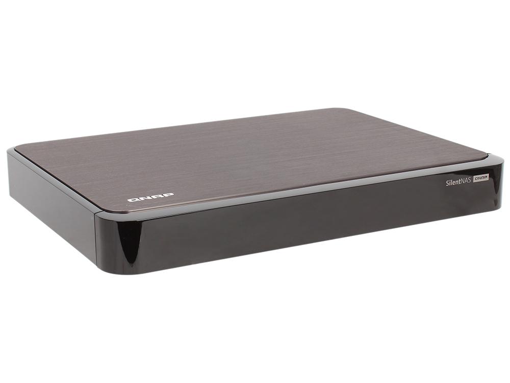 Сетевой накопитель QNAP  S2 Сетевой накопитель с двумя отсеками для жестких дисков, пассивным охлаждением и HDMI-портом. Оснащен четырехъядерн