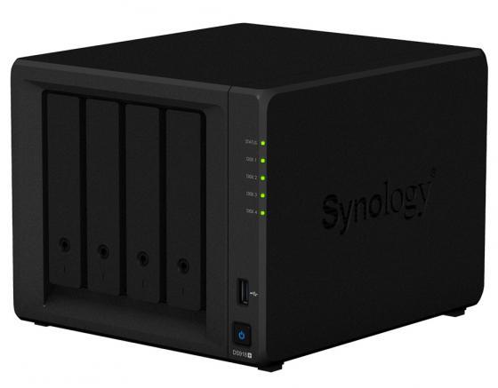 Сетевой накопитель Synology DS918+ сетевой накопитель synology rs217